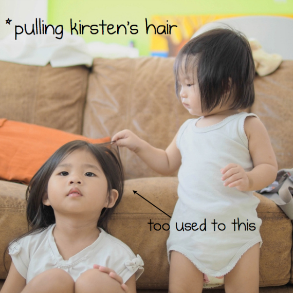 pulling kirsten's hair