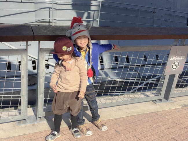 kids at the intrepid